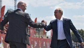 Πούτιν και Ινφαντίνο πιστεύουν ότι το Μουντιάλ βελτίωσε την εικόνα της Ρωσίας